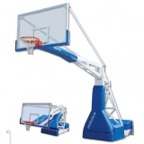 Basketball backboards, mobile on wheels, Hydroplay Official oleodynamic electric height adjustment - FIBA approved for 1st level