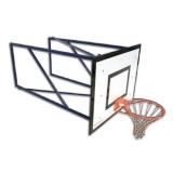 Mini-basket backstops, wall mounted, projection 185 cm