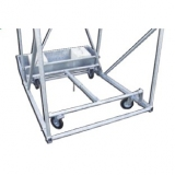 Mini-basket backstops, mobile with trolley, with ballast boxes, projection 145 cm
