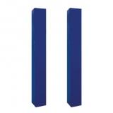 Front protection pads for monotubular mini-basket backstops