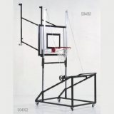 Mini-basket backstops - trolley, mobile on wheels - for lifting the mini-basket constructions