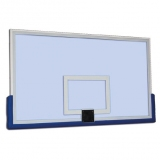 Basketball backboard, safety tempered glass