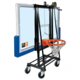 Trolley for storage, transport and install backboard