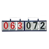 Manual wall mounted scoreboard