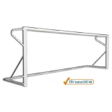 Soccer goals for 7 a side soccer, oval section 120x100 mm - acc. to EN748