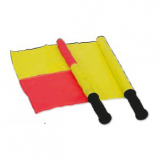 Linesmans flag with plastic handle