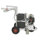 Soccer fields marker trolley using ecological paint operating by custion engine