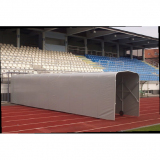 Extendable tunnel protecting players' entry on sport court (indoor or outdoor)