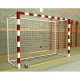 Handball goals, varnished steel, portable with ground base, completely dismantled - acc. to EN749