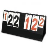 Portable desk manual scoreboard for volleyball