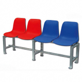 Tennis court bench, 100 cm, 2 polypropylene seats