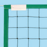 Beach volleyball net, made of nylon with polypropylene edges