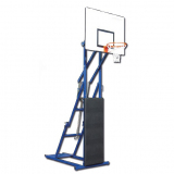 Streetball backstop, foldable and portable