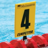 Competitor Gold Lane Numbers for Racing Lanes