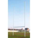 Rugby goals with ground sockets, height 11 mt
