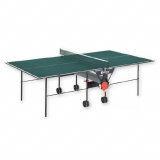 Tennis table, Indoor, foldable and movable on wheels