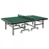 Tennis table, Indoor, foldable and movable on wheels, reinforced frame profile - ITTF approved