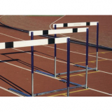 Competition hurdle Olympic, counterweighted base, adjustable height