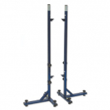 High jump training stand, height adjustable up to 250 cm telescopically