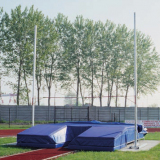 Pair of aluminium pole vault stands