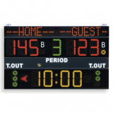 Scoreboard for multisport, dimensions 200x120 cm, programmable teams name, radio transmission