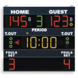 Scoreboard for multisport, visualizing fouls/set, 200x180 cm, radio transmission - FIBA approved for Level 3