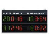 Scoreboard 2 penalty times per team, 200x100 cm