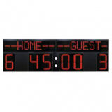 Scoreboard for multisport, outdoor, time of the game, score and period, 330x100 cm, cable transmission
