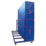 Mat trolley Vertical, mobile on wheels