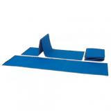 Mat for fitness training, folding, polyethylene