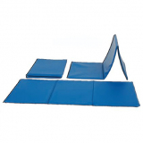 Mat for fitness training, folding, covered with vinyl material, 150x60x1 cm