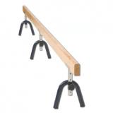 Training balance beam, wooden, adjustable height 30-50 cm