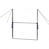 High bar suitable for vaulting, adjustable in height