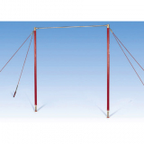 High bar suitable for vaulting, adjustable in height - FIG approved
