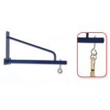 Climbing rope wall rack