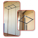 Frame for wall climbing equipments