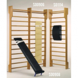 Apparatus for abdominal exercises on wall bar - for gym training