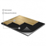 Flooring parquet for fitness centers JUMPAIR BASIC