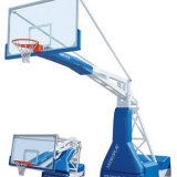 Hydroplay Official portable basketball backstop. FIBA certificate.