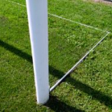 Fixed ground frame for soccer goals