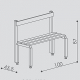 """Bench with backrest series """"Comfort"""""""