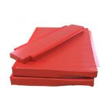 Custom folding mat for freestanding asymmetric and parallel bars