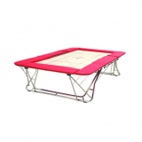 Large competition trampoline - 13 x13 mm bed - FIG approved