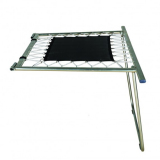 Small foldable safety end decks for large competition trampolines - FIG approved
