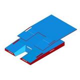 International comfort plus single cover  pole vault landing system. IAAF certificate.