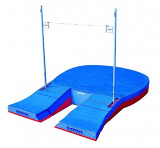 Major championship comfort plus single cover pole vault landing system. IAAF certificate.