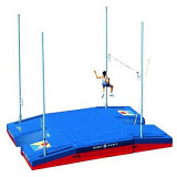 International double-front up & down single cover pole vault landing system
