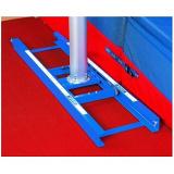 Standard pole vault rails with slider carts