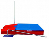 Extended pole-vault rails with slider carts