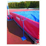 Support for foldable pole-vault standards